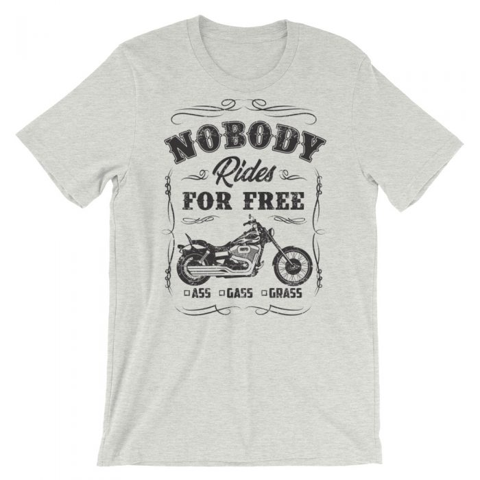 nobody rides for free motorcycle shirt