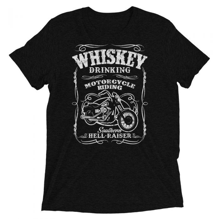 whiskey motorcycle t-shirt