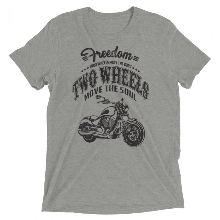two wheels moves the soul shirt