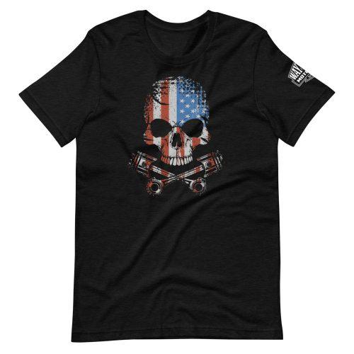 skull flag motorcycle shirt