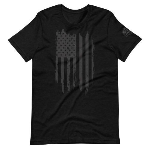 black ghosted usa biker t-shirt